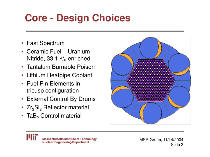 Core design choices