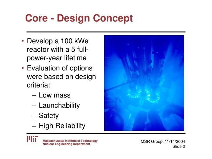 Core - Design Concept