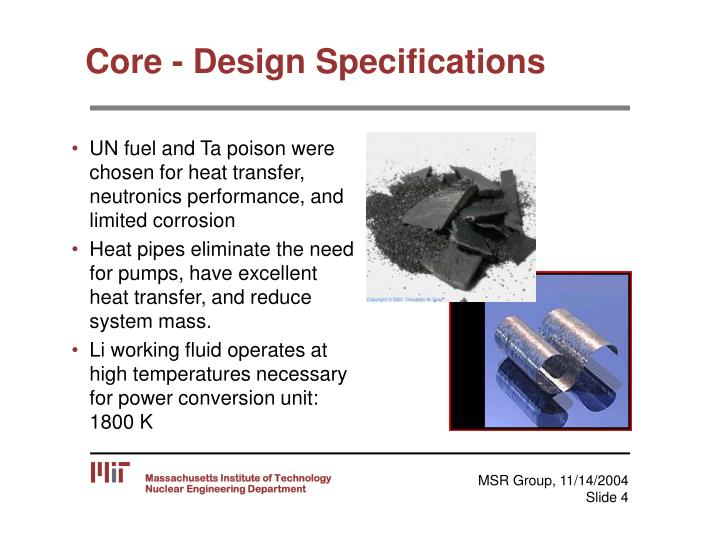 Core - Design Specifications