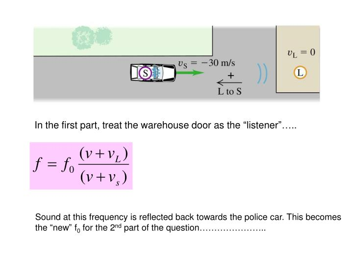 "In the first part, treat the warehouse door as the ""listener""….."