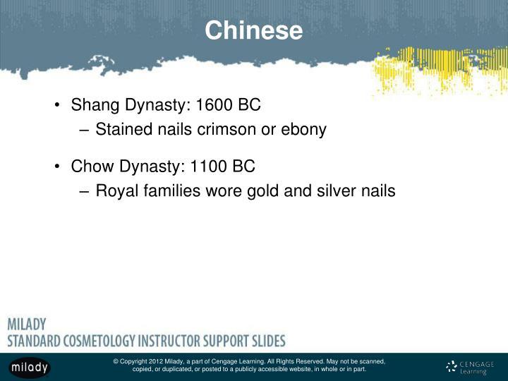 Shang Dynasty: 1600 BC