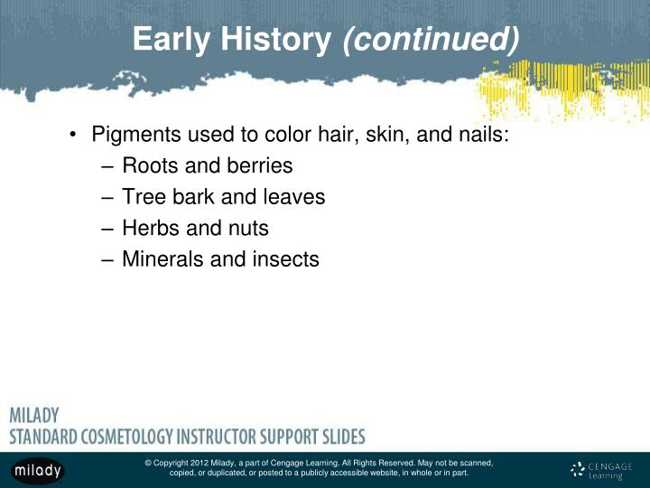 Pigments used to color hair, skin, and nails: