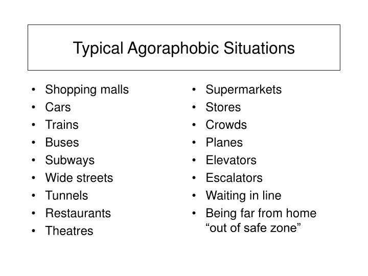 Typical Agoraphobic Situations