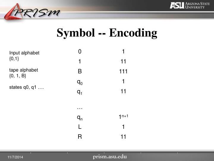 Symbol -- Encoding