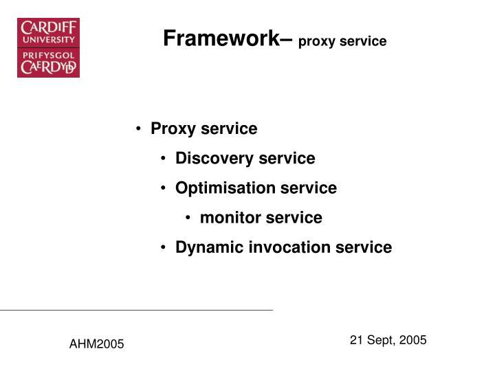 Framework–