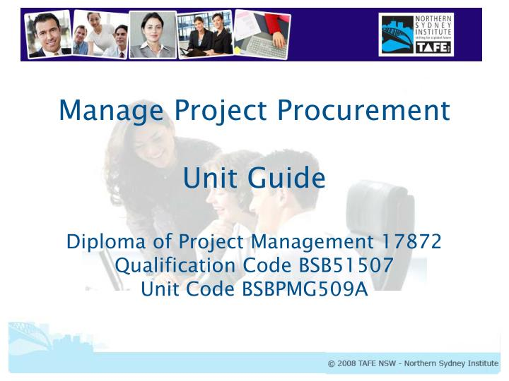 Manage Project Procurement