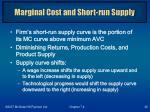 marginal cost and short run supply