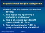marginal revenue marginal cost approach