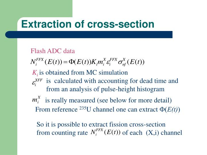 Extraction of cross-section