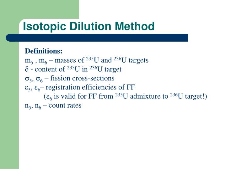 Isotopic Dilution Method