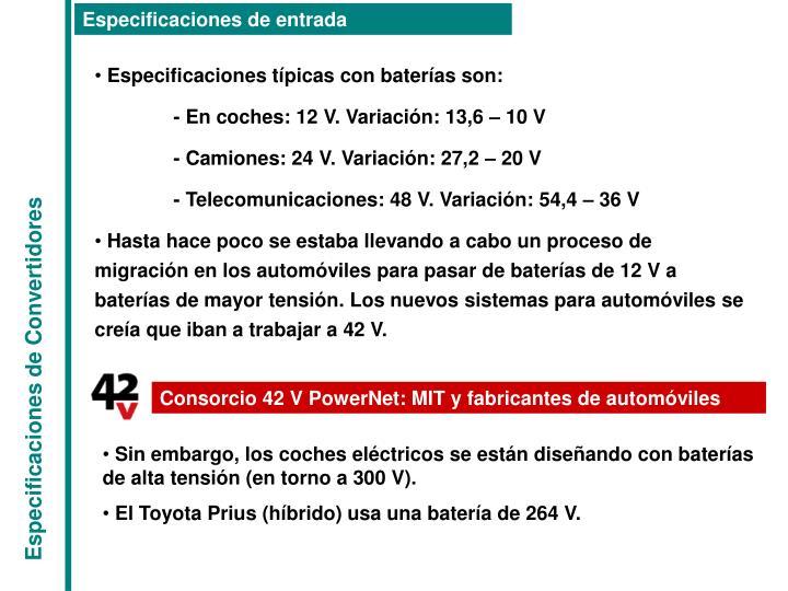 Consorcio 42 V PowerNet: MIT y fabricantes de automóviles
