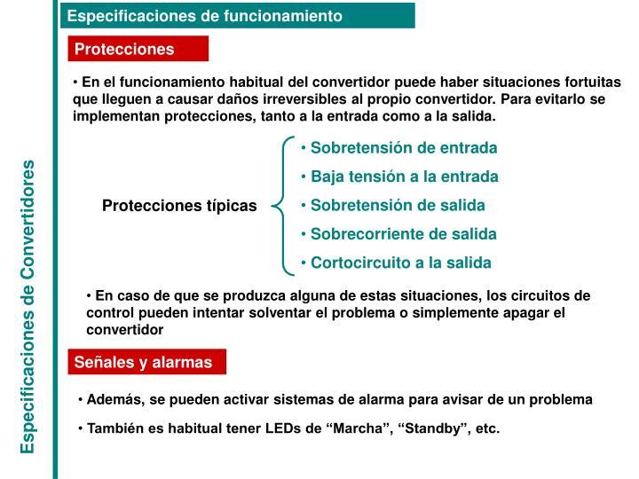 Protecciones típicas