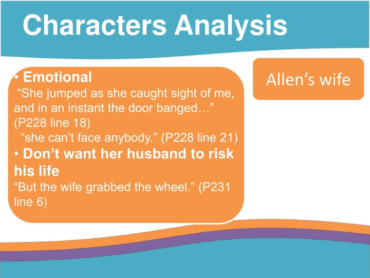 Characters Analysis