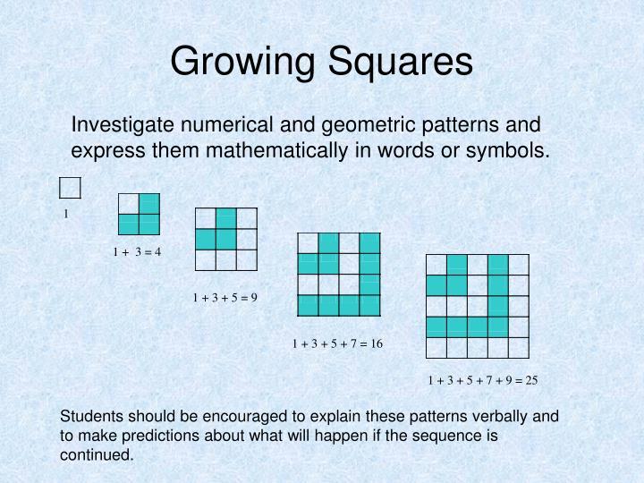 Growing Squares