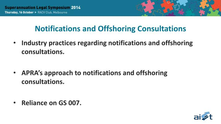 Notifications and Offshoring Consultations
