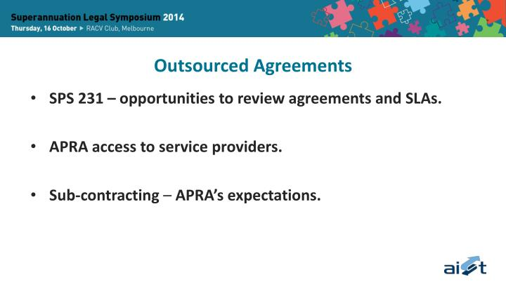 Outsourced Agreements