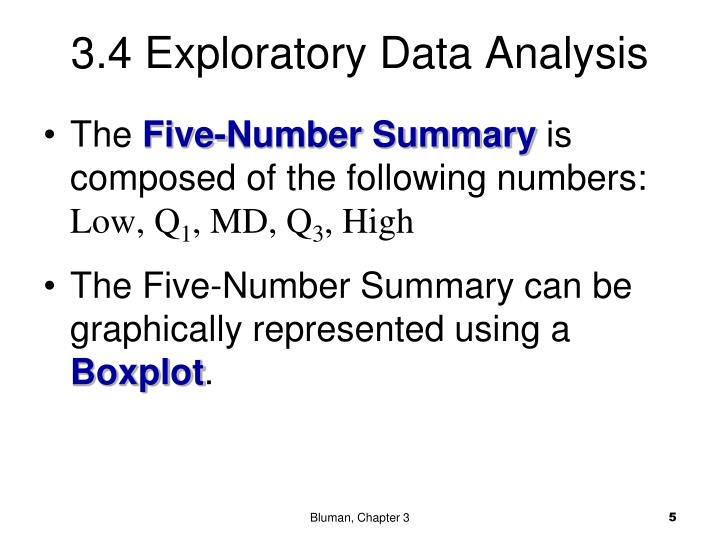 3.4 Exploratory Data Analysis