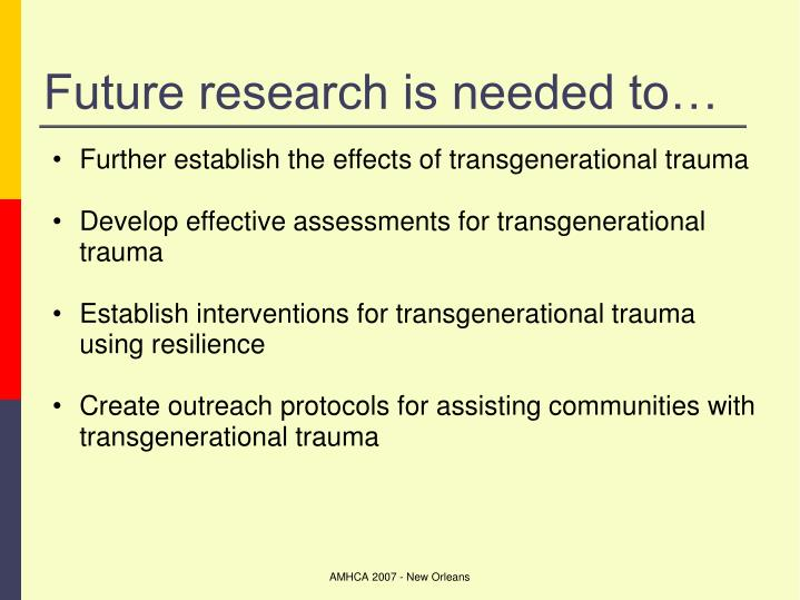 Future research is needed to…