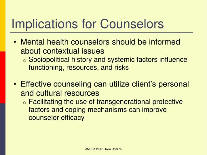 Implications for Counselors