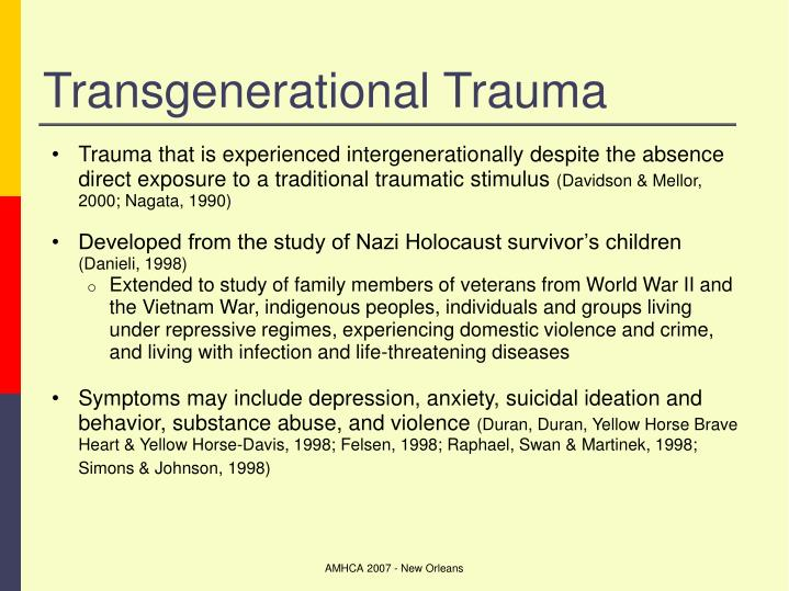 Transgenerational Trauma