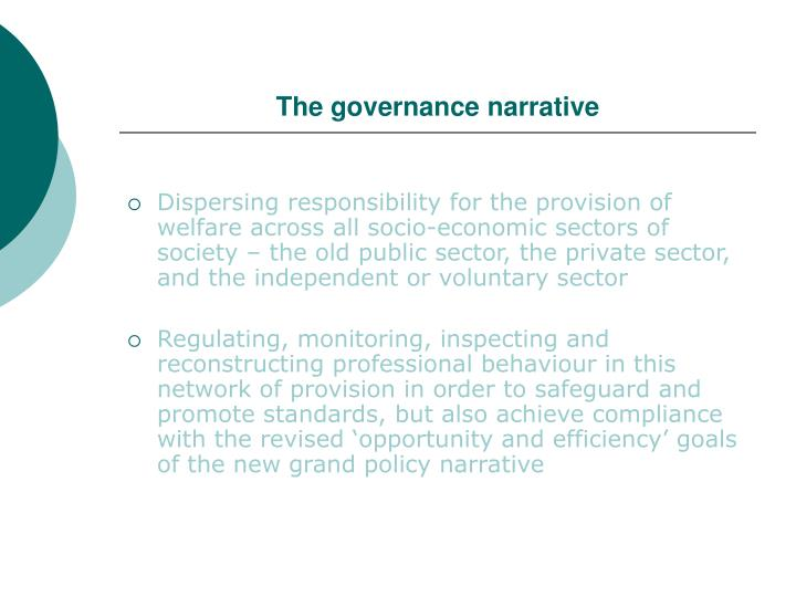 The governance narrative