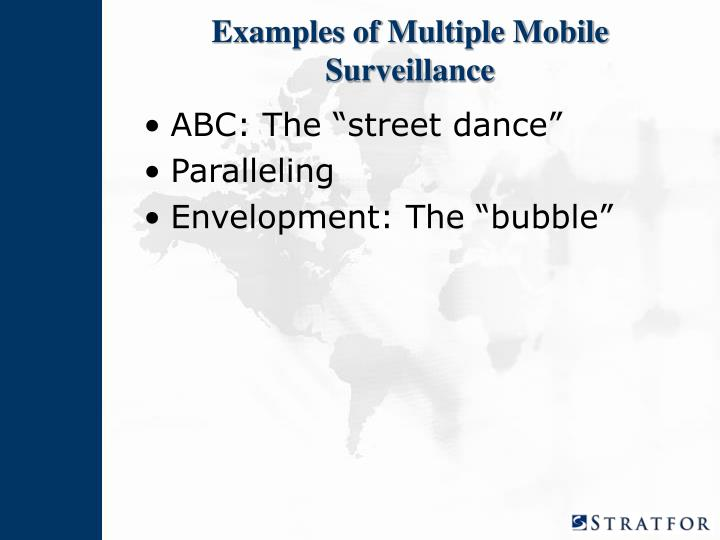 Examples of Multiple Mobile Surveillance