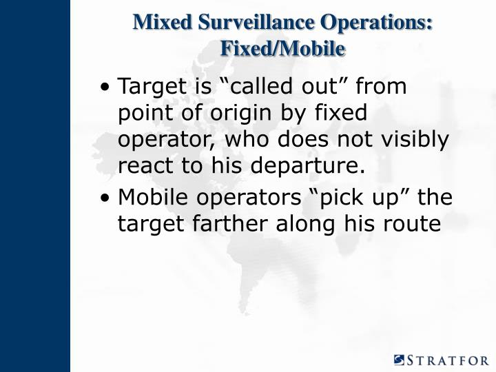 Mixed Surveillance Operations: