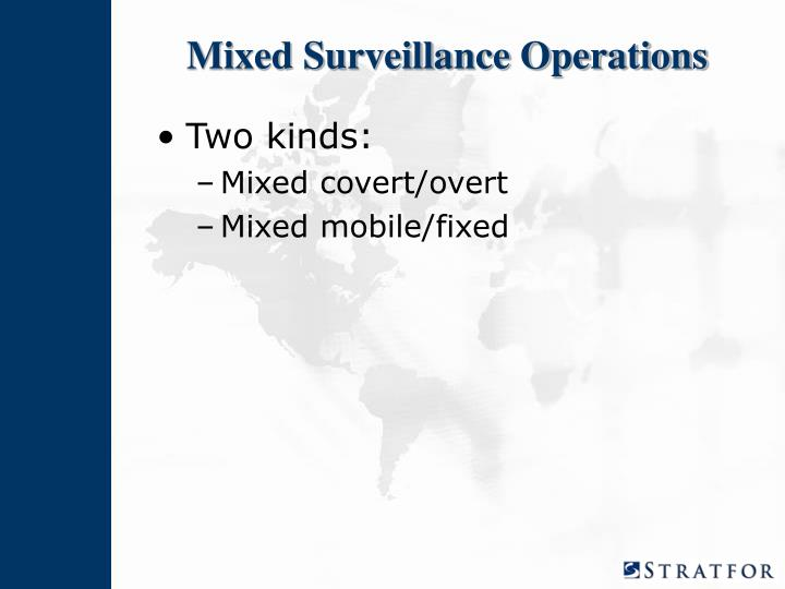 Mixed Surveillance Operations