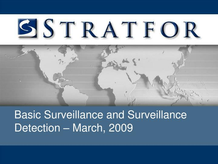 Basic Surveillance and Surveillance