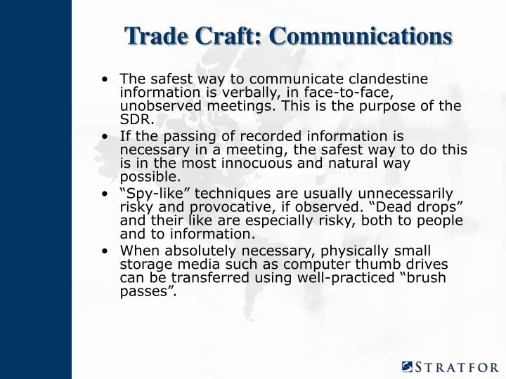 Trade Craft: Communications
