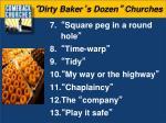 dirty baker s dozen churches1