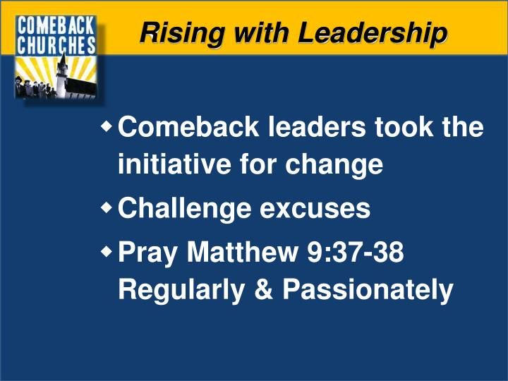 Rising with Leadership