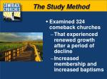 the study method1