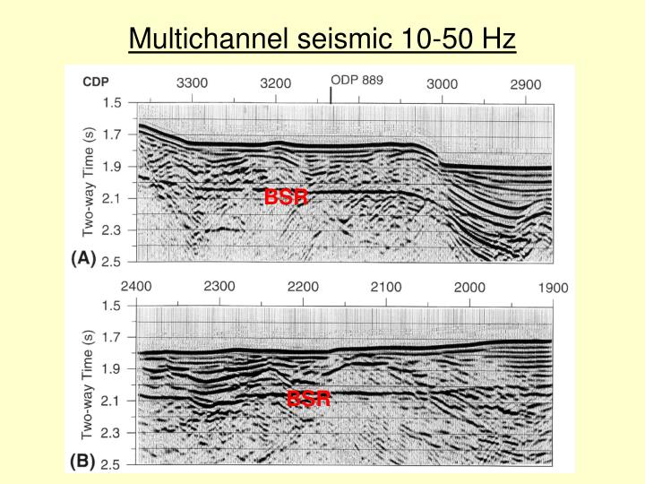 Multichannel seismic 10-50 Hz