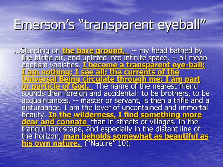 "Emerson's ""transparent eyeball"""