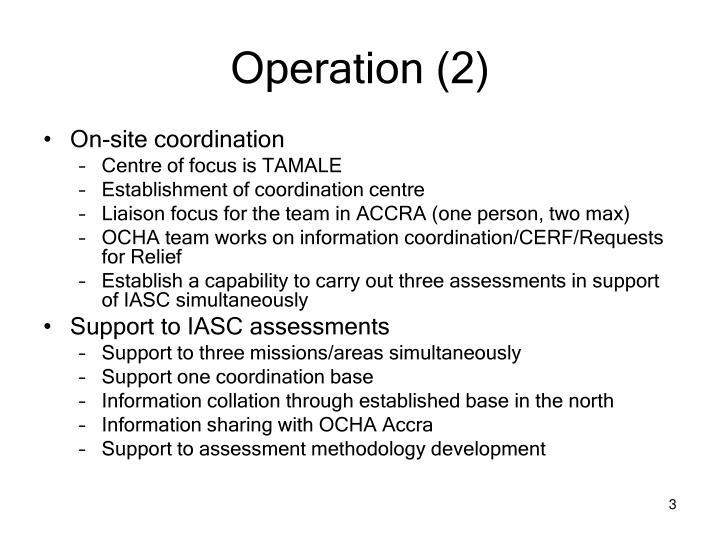Operation (2)