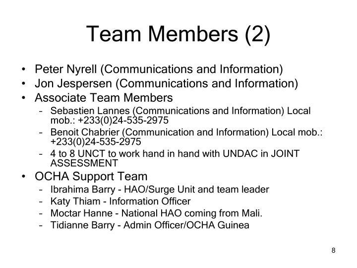 Team Members (2)