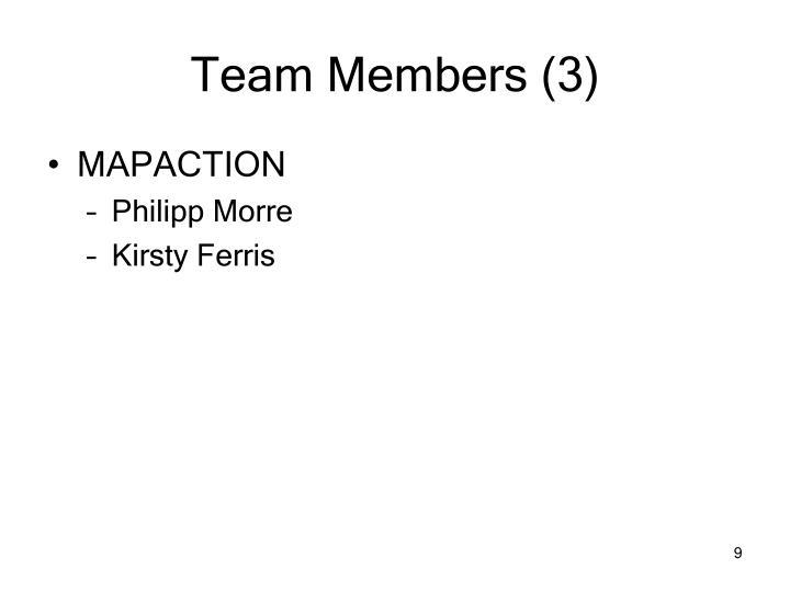 Team Members (3)