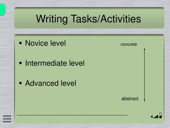 Writing Tasks/Activities