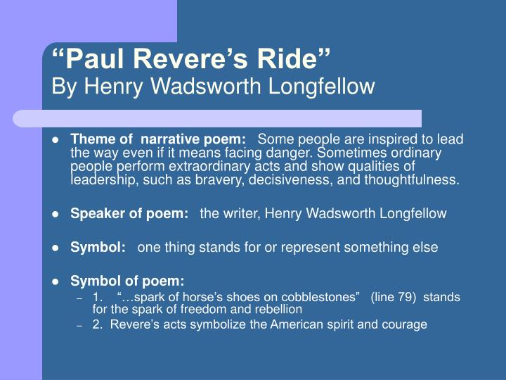 """""""Paul Revere's Ride"""""""