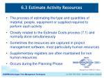 6 3 estimate activity resources