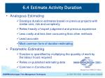 6 4 estimate activity duration2