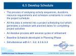 6 5 develop schedule