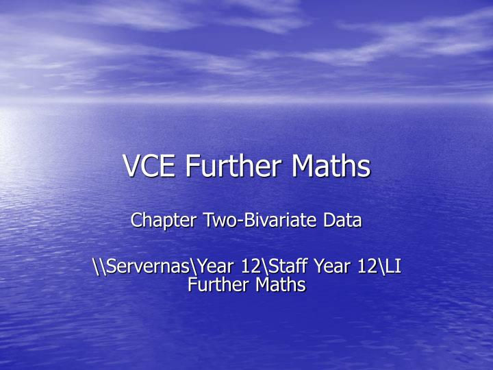 vce further maths
