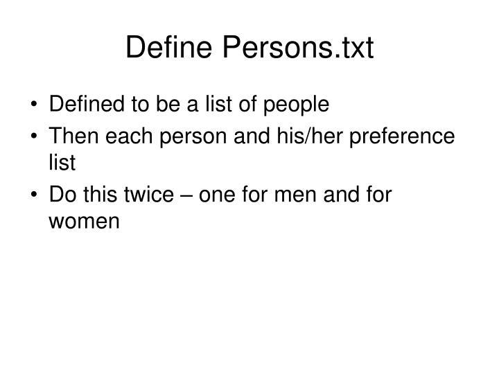 Define Persons.txt