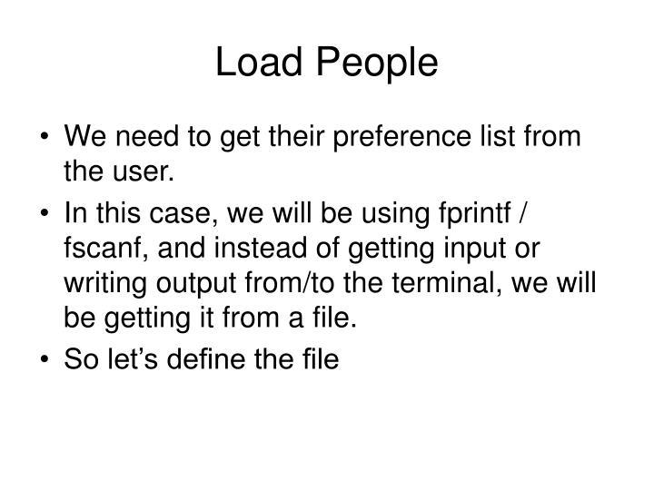 Load People