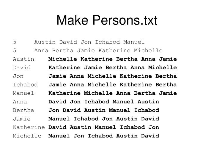 Make Persons.txt