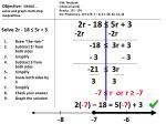 solve 2r 18 5r 3