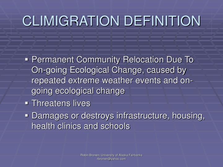 CLIMIGRATION DEFINITION