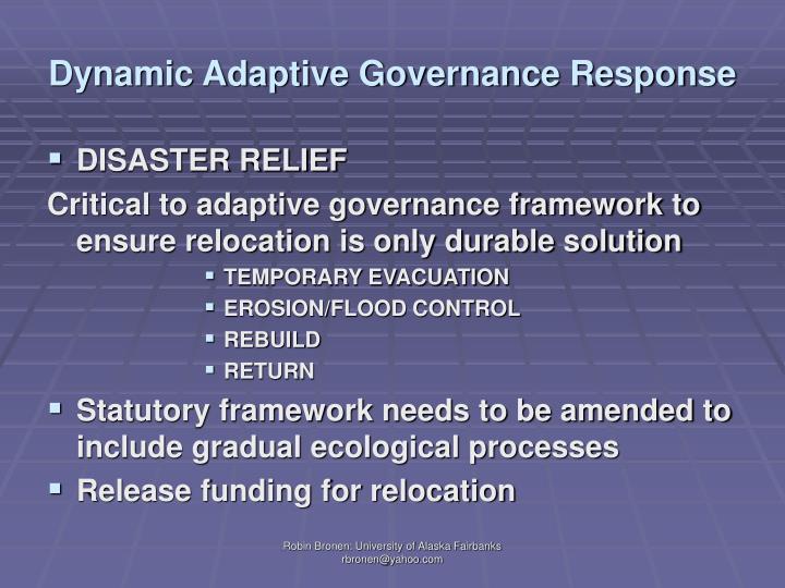 Dynamic Adaptive Governance Response